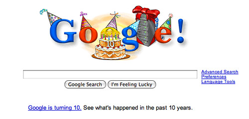 Google bday logo
