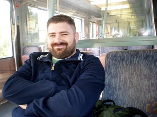 Me on a train