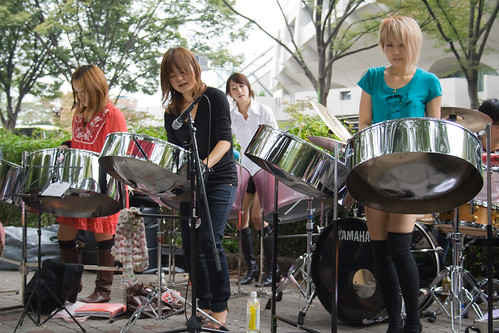 Le groupe Pan Magic Note au parc Yoyogi