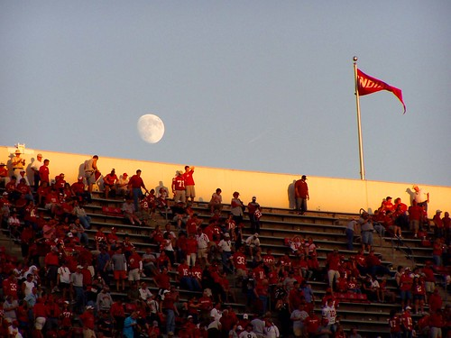 Children's Moon over the stadium