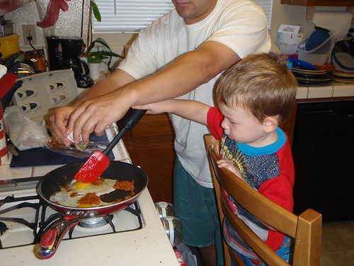 Cooking Chorizo with Dadoo