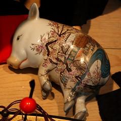 Pig (Ramon2002) Tags: sanfrancisco ceramic pig cherryblossom sakura