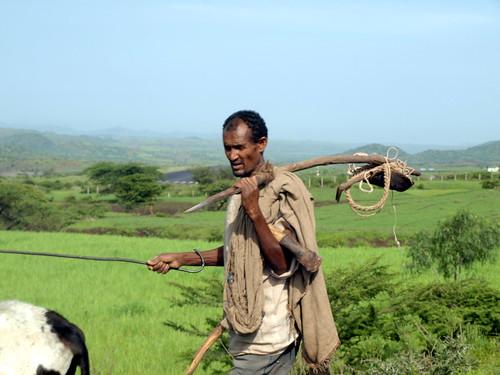 Agricultor de Lalibela (Etiopía)