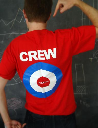 Back of FOWA Crew Tee