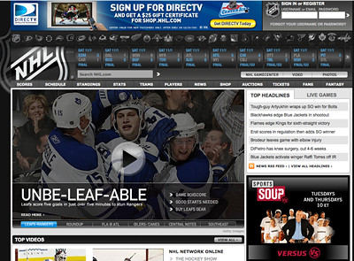 NHL.com (http://tinyurl.com/yzv7g3c)