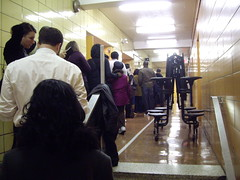 which line to stand on?? everyone is confused. (urzzz) Tags: nyc lines brooklyn election president crowd gothamist vote obama voting clintonhill gawker crowded electionday votingmachine levers barackobama civicduty gobama