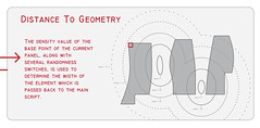 Distance-to-Geometry Facade Pattern (jftesser) Tags: architecture interactive infographics patterning rhinoscript toolpatterning