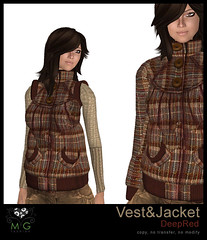 [MG fashion] Vest&Jacket (DeepRed)