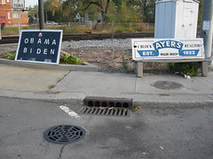 Associates with Washed Up Realtors (newneonunion) Tags: barackobama garyindiana billayers joebiden