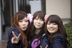 Three Happy Girls (Bracus Triticum) Tags: girls fashion japan happy 日本 fukuoka kyushu 九州 iizuka 福岡県 平成20年