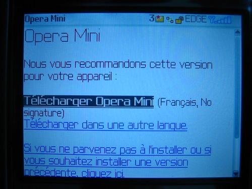 Télécharger et installer Opera Mini sur Blackberry Curve 8310 01