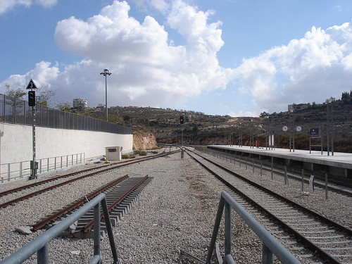 End of the Jerusalem railway line