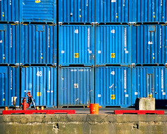 Containers (moelynphotos) Tags: blue patterns cargo container shipping containers dockside colorphotoaward bluecontainers