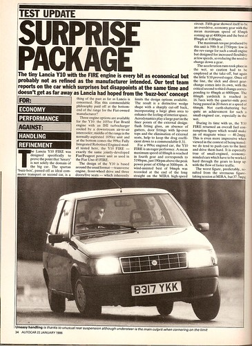 Lancia Y10 Fire Road Test 1986 by Trigger's Retro Road Tests!