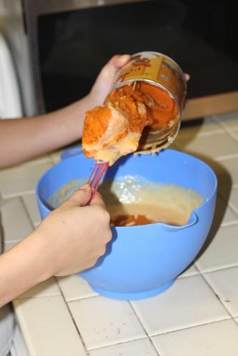 Making Pumpkin Mochi