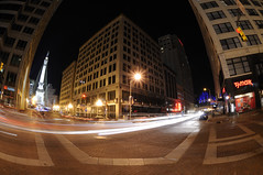 Indy Photo Coach - Downtown Indianapolis SOOC (Serge Melki) Tags: photoshop photo coach downtown outdoor indianapolis indy indiana class blogged nightshots serge melki d300 downtownindianapolis monumentcircle 105mmf28gfisheye sooc capturenx indyphotocoach
