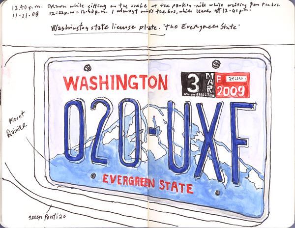 licenseplatewa112108m