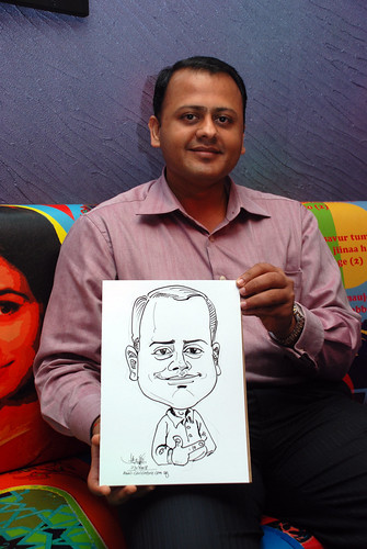 Caricature live sketching for Dow Jones 6