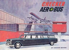 Aerobus (Telstar Logistics) Tags: car illustration airport aircraft 1966 brochure checker aerobus