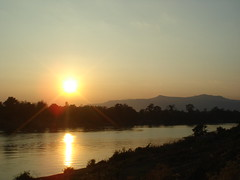 Sun setting over the Sekong at Attapeu (edhedley) Tags: sunset february laos 2008 sekongriver attapeuprovince