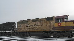 Former Wisconsin Central commemeorative locomotive. Franklin Park Illinois. December 2008.