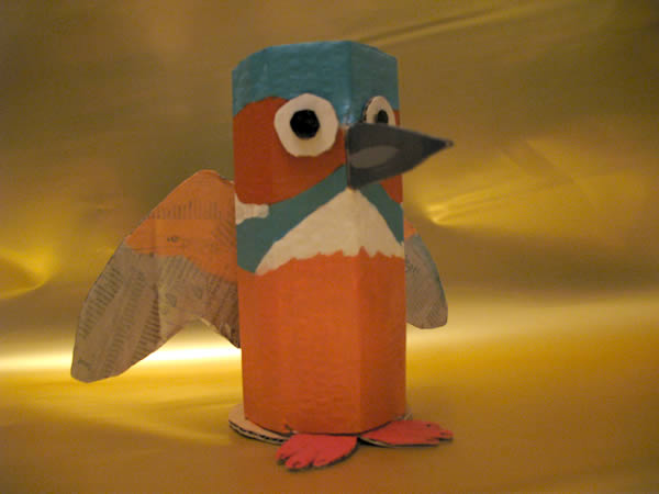 Cardboard kingfisher