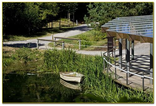 la barca en el estanque