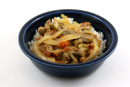 Curried Beef and Onions