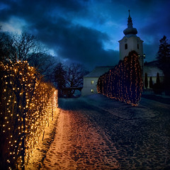 Before the High Mass (fesign) Tags: christmas holiday church temple lights explore romania transylvania myhometown erdly sepsiszentgyrgy szkelyfld highmass reformtusvrtemplom