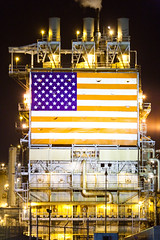 Freedom of Choice, is What You Got, Freedom From Choice, Is What You Want (Thomas Hawk) Tags: california usa losangeles industrial unitedstates 10 flag unitedstatesofamerica americanflag fav20 longbeach southerncalifornia bp fav30 refinery starsandstripes britishpetroleum fav10 fav25 fav40 renegadephotography superfave bpcarsonrefinery