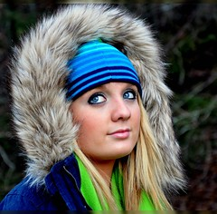 Bundled Up (Tracey Tilson Photography) Tags: blue winter portrait anna cold green girl face hat scarf fur for jump eyes nikon warm pretty december coat north joy melissa teen carolina hood wintertime trim 2008 picnik gettyimages bundled d90 sheissolovely visionquality10000 storybookwinner pregamewinner pregamewinnermay10
