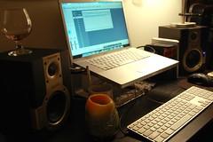 New Samson Studio monitors (Kristopher Michael) Tags: home studio candle wine record pro production setup monitors samson engineer recording garageband logic iphotooriginal macbook