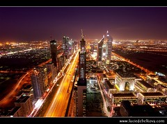 UAE - Veins of Dubai from 68th floor - Sheikh Zayed Road & Emirates Towers ( Lucie Debelkova / www.luciedebelkova.com) Tags: world trip travel vacation panorama holiday tourism skyline landscape dubai tour place uae sightseeing scenic middleeast visit location tourist journey arabia destination sight traveling visiting exploration landschaft unitedarabemirates touring gcc luciedebelkova wwwluciedebelkovacom