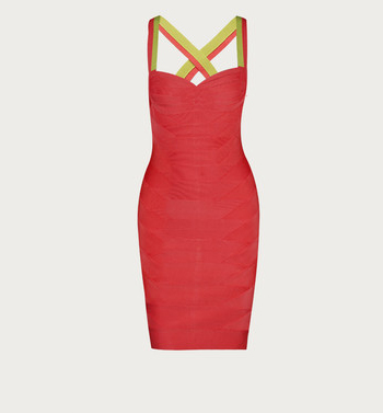 Herve Leger Pink Bodycon - Matches