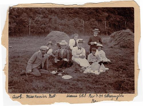 Picnic with Rev F.M. Etherington. Kent. 1890s.