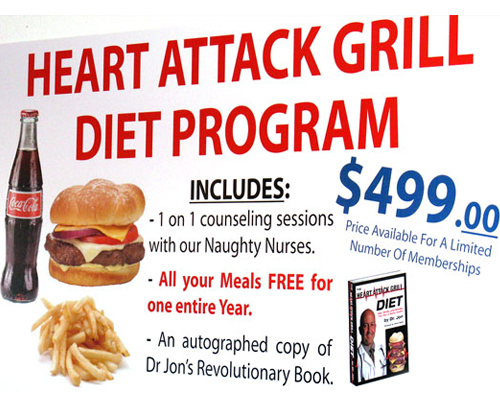 heart attack cafe menu. Heart Attack Grill Menu 2