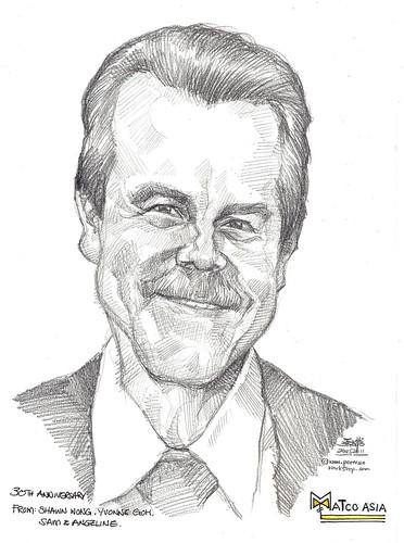 portrait in pencil for Matco Asia