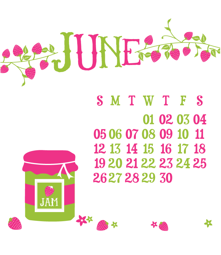 June Digital Calendar