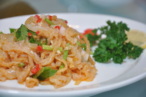 spicy szechuan jelly fish