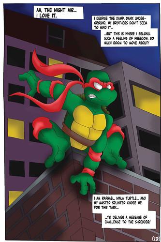 """Teenage Mutant Ninja Turtles"" #1 V.1 Remix Fan Comic / Pg.19 art by Buffy (( 2011 ))"