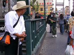 Watcher (Street Witness) Tags: street nyc chinatown watching samsung bystander nv7