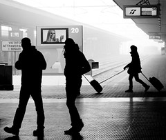 Passeggeri distratti (bogob.photography) Tags: city trip morning travel friends people blackandwhite bw italy white black cold cute art station fog train geotagged torino fun person interesting nikon europa europe italia arte gente bn passengers persone 1870mmf3545g most human porta mm persons nikkor 2008 nebbia turin stazione bianco treno freddo nero viaggio 1870mm nuova mattino 1870 passeggeri nikkor1870mmf3545g folla f3545 d80 f3445 bnvitadistrada peoplesfavorites oniricamente thebestofday gnneniyisi bnviaggio llovemypics personafriend