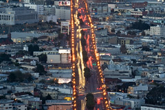 A Road Runs Through It (AGrinberg) Tags: sf sanfrancisco street long exposure market explore twinpeaks 200mm longlens sfchronicle96hrs 2656marketst replaced91414withlargerversion