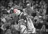 (.emily.) Tags: red blackandwhite bw white hat cutout funny audience clown crowd makeup pbr facepaint flint bullriding videostill paintedface selectivecoloring professionalbullriders flintrasmussen