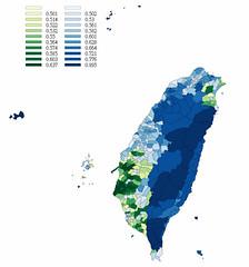 2008台灣總統大選藍綠版圖