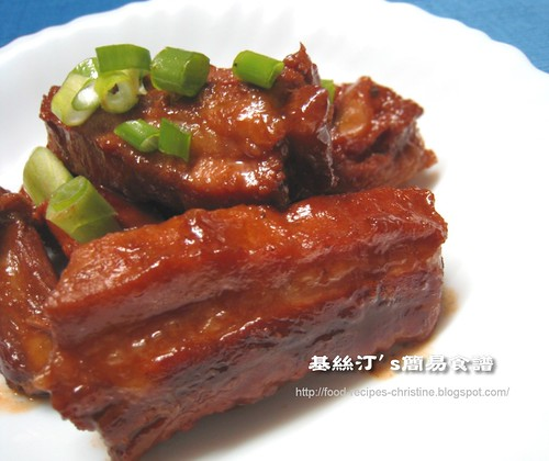 南乳五香炆排骨 Spicy Beancurb Pork Rib Stew