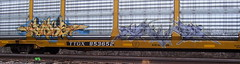 SODE BROCK (The Steel Chariot) Tags: up train graffiti paint pacific streak graf union tags spray transit graff coal piece burner tagging hopper freight vandalisim bombing throw reefer peice autorack throwie moniker markall
