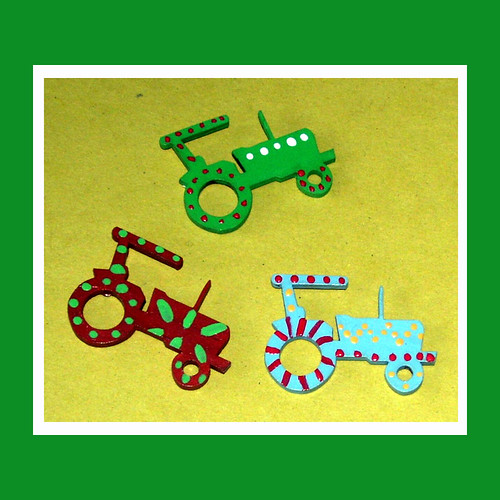 Tractor Furniture Embellishments (set of 3)