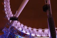 London Eye (@ly$ in wonderland) Tags: uk greatbritain blue light london eye wheel night speed photography lights movement shot angle britain londoneye shutter bigwheel appeture