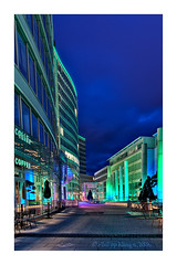 Luminale I (Philipp Klinger Photography) Tags: blue light sky green coffee night clouds germany deutschland hessen shot frankfurt violet wave starbucks 2008 philipp welle hesse klinger luminale colourartaward